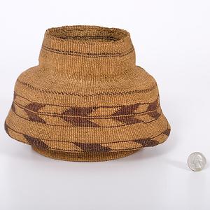 Klamath Victorian-Style Basketry Vase