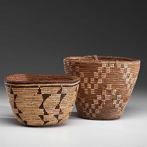 Klickitat and Puyallup Imbricated Baskets