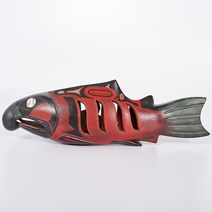 Northwest Coast Painted Salmon Rattle