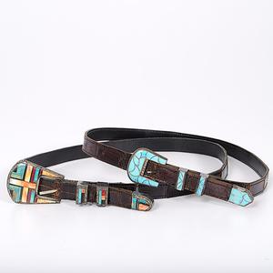 Navajo Inlaid Ranger Belts