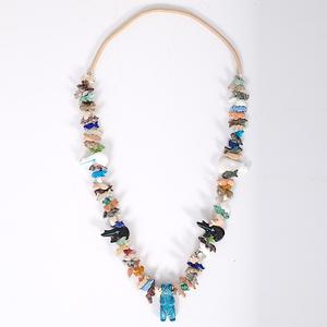 Zuni Carved Animal Fetish Necklace