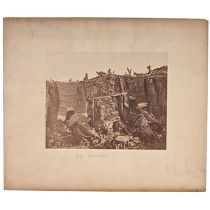 Roger Fenton, A Two Gun Battery During the Crimean War, Salted Paper Photograph