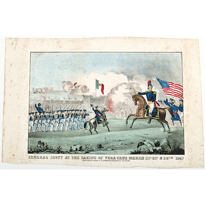 General Scott at the Taking of Vera Cruz, Scarce Lithograph by Magee