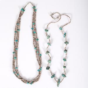 Santo Domingo Turquoise and Heishi Necklaces