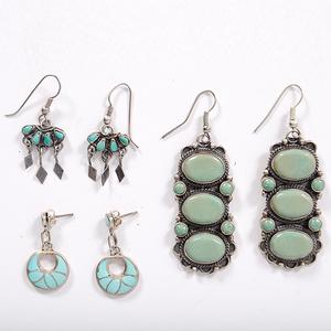 Zuni and Navajo Turquoise Earrings