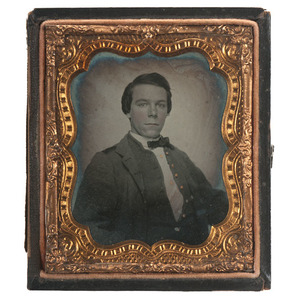 Confederate John Barclay Withers, 17th Virginia Infantry & Mosby's 43rd Bn. Cav. Partisan Rangers, POW, Sixth Plate Ambrotype