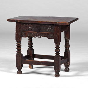 Spanish Colonial Carved Side Table