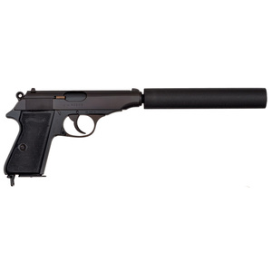 ***Walther PP Pistol with Suppressor