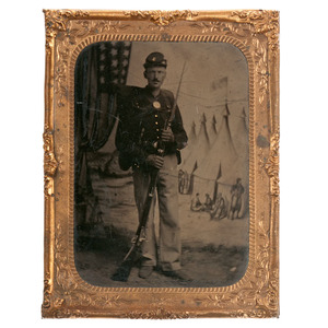 Private Jacob Rapp, 150th New York Volunteers, Quarter Plate Tintype Plus Letters Written from the Field
