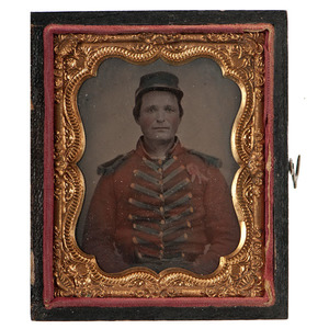 Ninth Plate Tintype of a Militia Musician