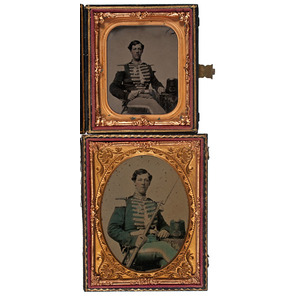 Militiaman from the Valley City Guards, Grand Rapids, Michigan, Ambrotype and Tintype Portraits