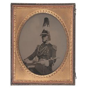Half Plate Ambrotye of a Militia Officer, by Rufus Adams