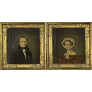 Fine Pair of American Portraits,