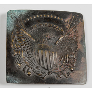 Early 19th Century Eagle Militia Belt Buckle