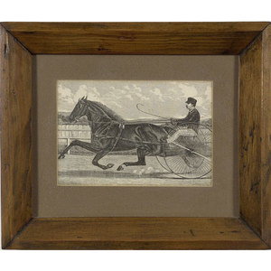 Wood Engraving of Sulky Race,
