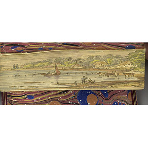 Lucile by Meredith with Outstanding Fore-Edge Painting,