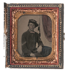 Civil War Sixth Plate Tintype of a Soldier from the 2nd Infantry
