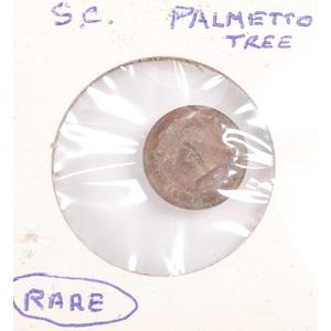 Rare Confederate, South Carolina, Palmetto Tree Button