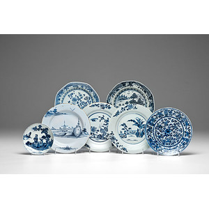 Fine Collection of Blue and White Chinese Export Porcelain