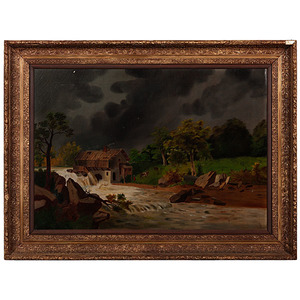 Naive Kentucky Mill Painting