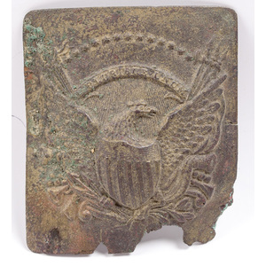 Ca 1840s Period Eagle Military Belt Buckle/Brass Plate