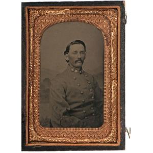CSA Colonel Marcellus Pointer, 12th Alabama Cavalry, Tintype Portrait