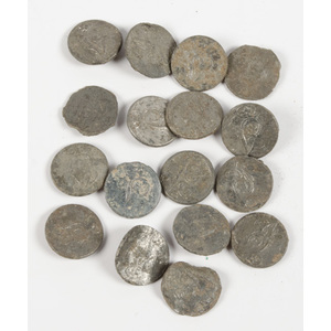 US Pewter Infantry Buttons, Lot of Seventeen