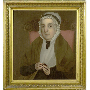 Oil on Board Portrait of an Elderly Lady,
