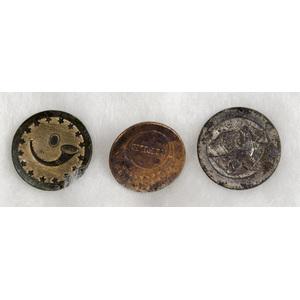 US War of 1812 Rifleman's Buttons, Lot of Three