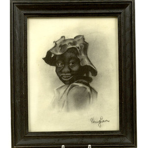 Charcoal Portrait of an African American Child,