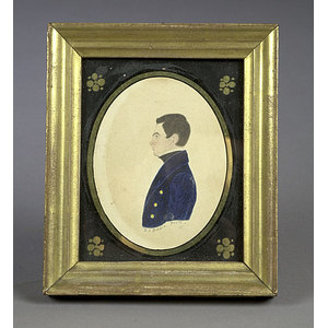 Fine Philadelphia Miniature Portrait by R.S. Biddle,