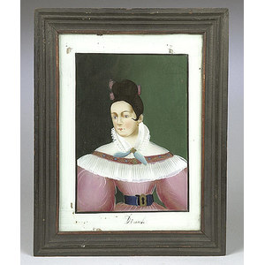 Reverse-Painted Portrait of a Young Lady,