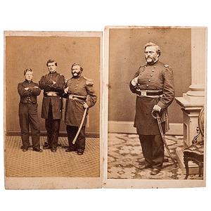 1st Maine Cavalry, Two CDVs of Colonel John Goddard