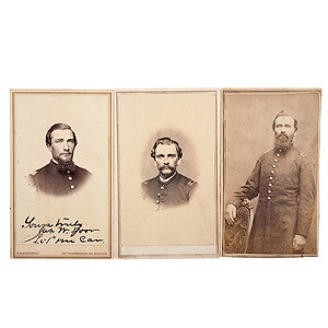 1st Maine Cavalry, Three CDVs of Identified Officers including Gettysburg WIA