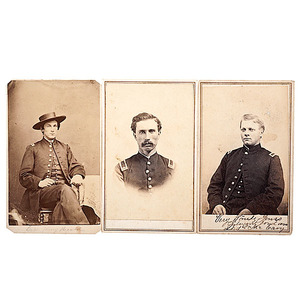 1st Maine Cavalry, Three CDVs of Identified Officers including KIA