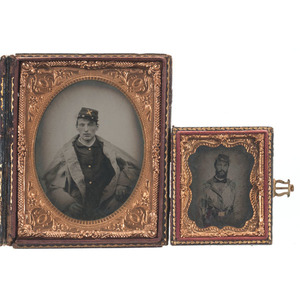 Civil War Ambrotype & Tintype of Soldiers, One Armed