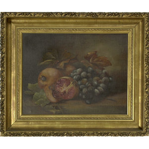 Oil on Canvas Still Life of Fruit,
