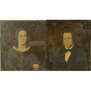 Pair of Ohio Folk Art Portraits,