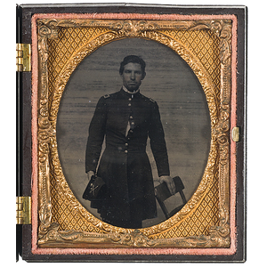 Civil War Sixth Plate Cased Tintype of a Second Lieutenant of Cavalry