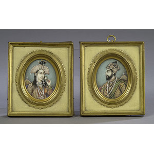 Two Mogul Miniatures on Ivory,