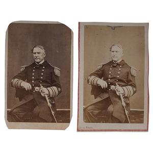 Admiral Farragut Signed CDV, Plus