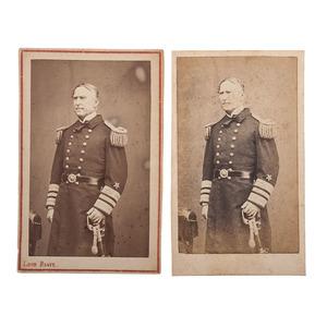 Admiral D.G. Farragut Signed CDV, Plus