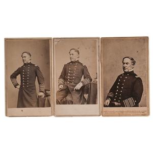 Admiral D.G. Farragut, 3 CDVs by Brady