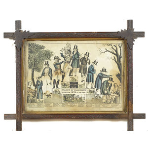 Hand-Colored Lithograph Life & Age of Man,