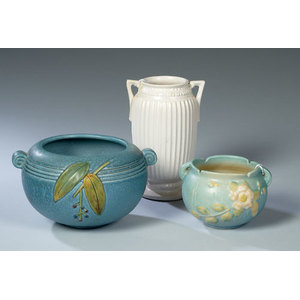 Lot of Roseville & Weller Art Pottery,