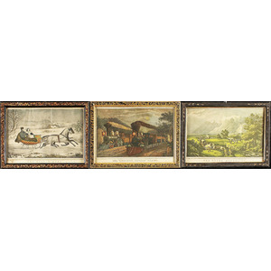 Transportation Related Currier & Ives Prints,