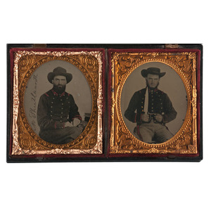 Sixth Plate Ambrotypes of CSA Soldiers from the 36th Alabama Regiment, Including Pvt. Morgan Shuttleworth, DOW