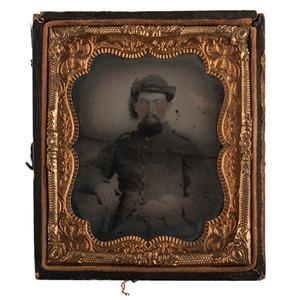 Sixth Plate Ambrotype of Confederate Cavalryman