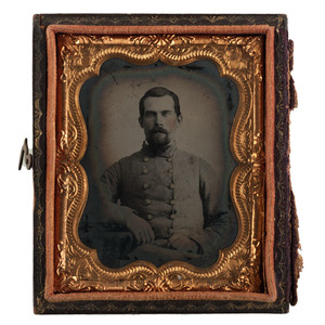 Ninth Plate Ambrotype of Confederate Soldier, Found in Eastern Virginia