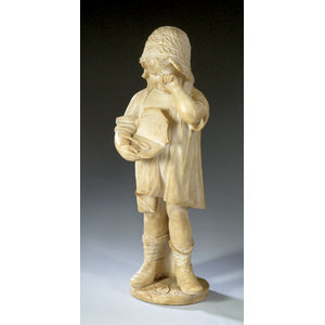 Alabaster Sculpture of a Young Girl,